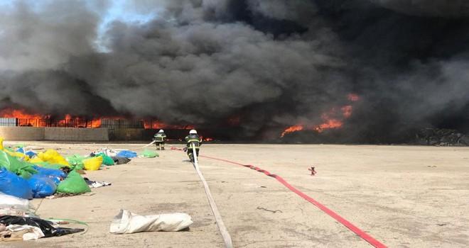 Kırıkkale'de fabrika yangını...