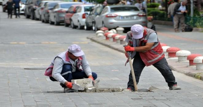 Mestan sokakta çalışmalar tamamlandı...