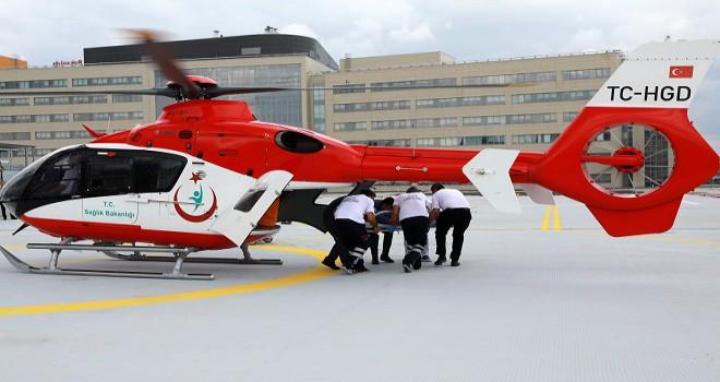 Ankara Şehir hastanesinde ilk deneme uçuşu...