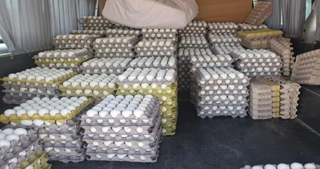 Bin koli kaçak yumurta imha edildi...