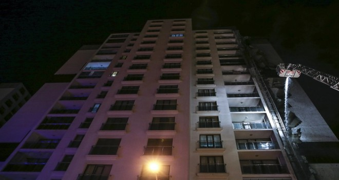 Ankara'da 16 katlı binada yangın çıktı...