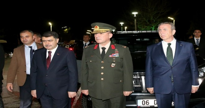 Mansur Yavaş ilk gününde Cumhurbaşkanını karşıladı