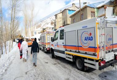 Van'da çığ altında kalanları kişiyi arama kurtarma çalışmaları sürüyor