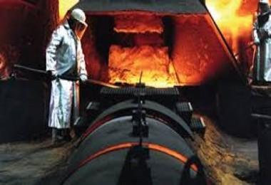 Ham çelik üretimi azaldı...