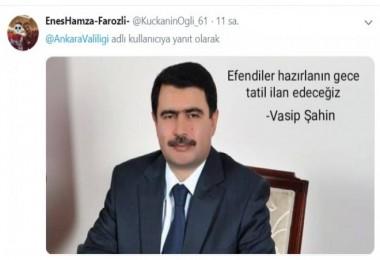 Vasip Şahin'e öğrenci serzenişleri: Valim dedik bağrımıza bastık...