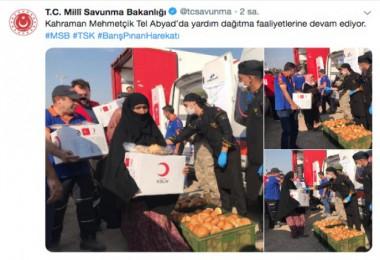 Türk Kızılay'ından Tel Abyad'da yardım