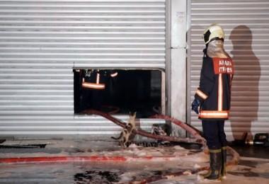 Ostim'de işyeri yangını