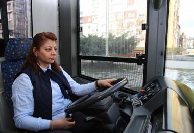 Eskişehir toplu taşımada Kadınlar direksyon başında