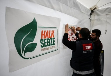 Ankara'da Halk sebze kuruldu...