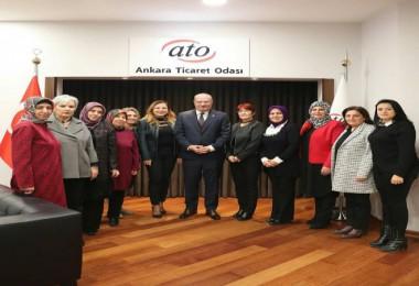 Ankaralı kadınlardan ATO'ya ziyaret