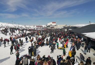 Erciyes'e hafta sonu 120 bin ziyaretçi