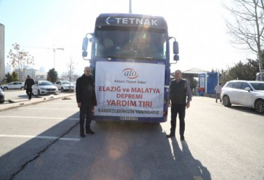 ATO tırları Elazığ'ya yola çıktı