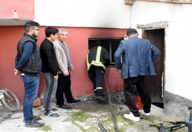 Kırıkkale'de ev yangını